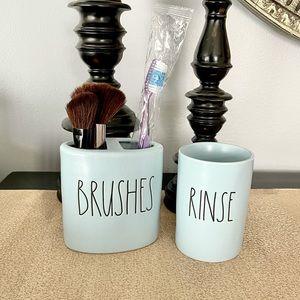 🆕Rae Dunn Ceramic Set-RINSE/BRUSHES Set